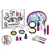 Mississ Pretend Makeup Kit Toys, Safe & Non-Toxic Kids Cosmetic First Make Up Pretend Toy Set, para Little Princess Play Dress Up, Pink Pretend Play Game para niña