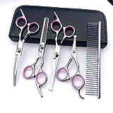 Ciseaux de coiffure de luxe légers définit des ciseaux de sécurité outil Ciseaux de 4,5 pouces Ciseaux à dents plates Ciseaux incurvés