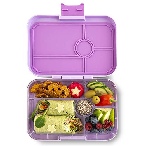 Yumbox Tapas XL Lunchbox – Bento Box für Erwachsene (Lila Purple, 5er Bon Appetit) | Unterteilte Brotdose | Auslaufsicher getrennte Fächer