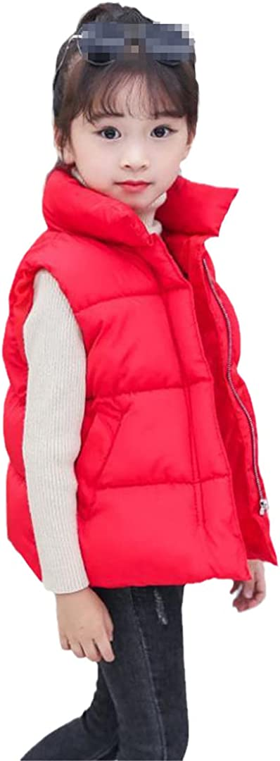 Boys Girls Down Vest Thicken Warm High Collar Toddler Casual Tops Vests