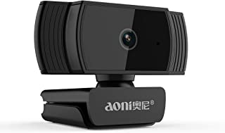 Mytrix AutoFocus FHD 1080P Aoni Webcam, Built-in Noise Cancelling Mic, USB Webcam for Windows Mac Laptop Desktop Video Calling Recording Conferencing Streaming, Skype Zoom Facebook YouTube (Renewed)