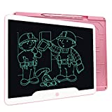 LCD Writing Tablet, Richgv 15 Inches Writing Doodle Board Electronic Digital Writing Pad for Kids and Adults at Home,School,Office Pink