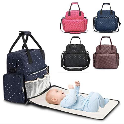Babylux Rucksack für Windeln und Flaschen, multifunktional, Wickeltasche, tragbar, wasserdicht, Babylux, Kinderwagen (braun)