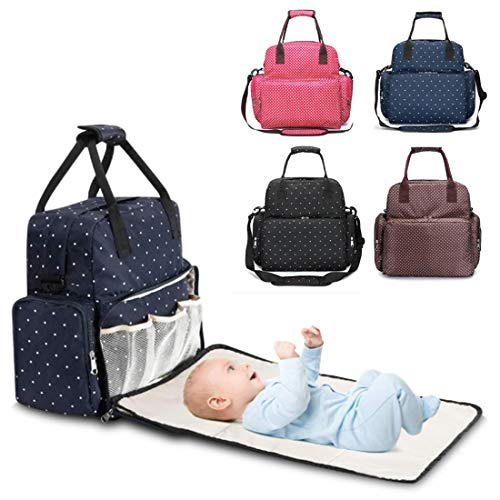 Mochila Bebé para Pañales y Biberones, Bolso maternidad multifuncional, Cambiador bebe portátil, Mochila impermeable mama Babylux, Bolso carrito bebé. (Marron)