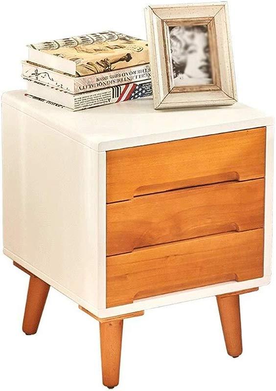 HappyL Bedside Table Solid Wood Bedside Table Bedroom Bedside Table Narrow Cabinet Living Room Cabinet Storage Cabinet 3 Drawer Modern Bedside Table Bedside Table