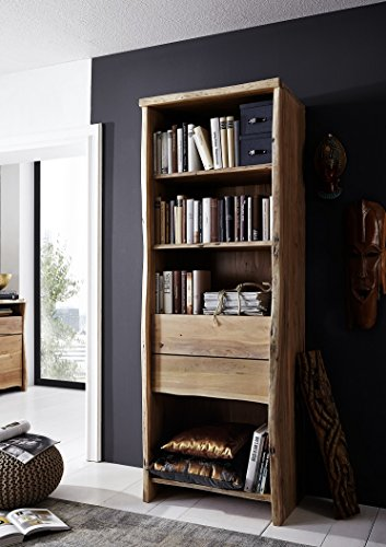 Main Möbel boekenkast praktisch en netjes 71cm 'Dakar' Acacia massief gelakt