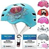 SkullCap® Casco de Skate y BMX - Bicicleta Y Scooter Eléctrico, Diseño: Lotus, Talla: L (58-61 cm)