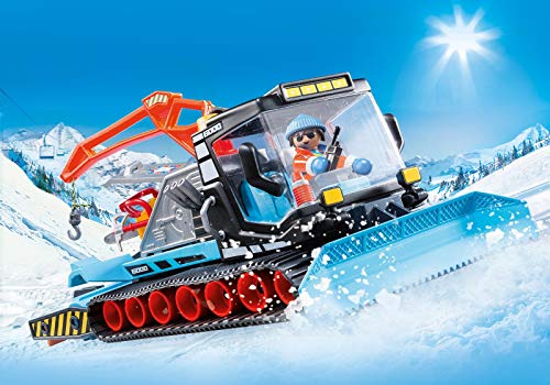 Playmobil - Building Game - Agent with Snow Plough - Family Fun