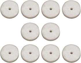 Strap Button Felt Washers Package of 10 Cream