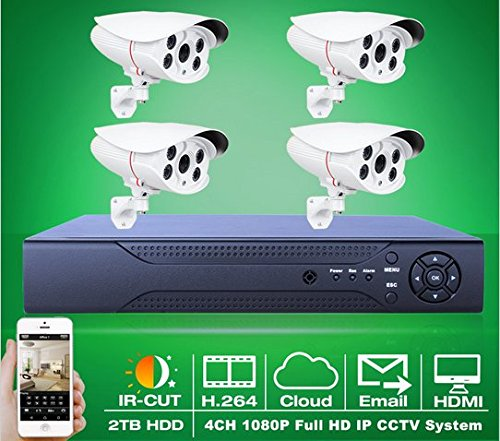 For Sale! GOWE 2TB HDD 8CH Network NVR System 2.0 MegaPixel Full HD IR 1080P IP Camera CCTV Security...