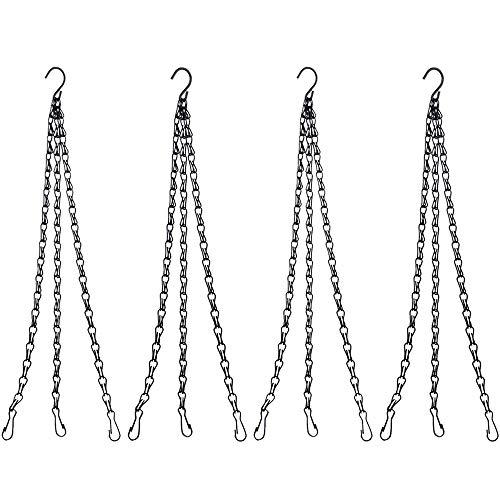 Ritte Suspendus des Paniers, 4 Ensembles Chaînes de Panier à Suspendre de Rechange en Fer Durable avec Crochets pour Nichoirs Décoration de Jardin Accessoires