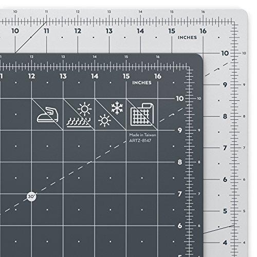 ARTEZA Schneidematte, 12 x 18 Zoll (31.6 x 47.4 cm), 3 mm dick, selbstheilende Schneideunterlage, doppelseitig für Rollschneider, zum Nähen, Quilten und Basteln