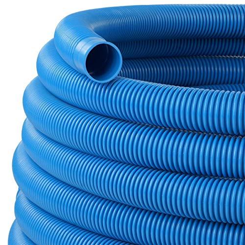 Tuyau de piscine - Diamètre : 38 mm - Bleu - 15 m