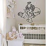 Wandtattoo Aufkleber Tapete 57X62 cm Schlafzimmer Babyzimmer Engel Niedliche Babyflügel...