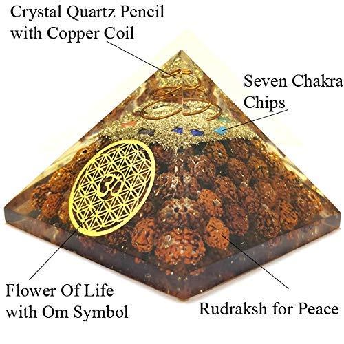 OrgoniteShop 7 Chakra Orgone Energy Generator Pyramid for Vastu Correction Orgonite Pyramids for Emf Protection