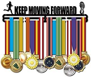 Marathon Running Medal Display Hanger Holder Racks Frame in matt Black Surface Wall Mount Medals 2 Lines with 3 Screws Eas...