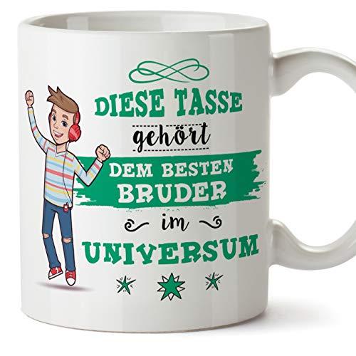 Mugffins Bruder Tasse/Becher/Mug - Diese Tasse gehört dem besten Bruder im Universum - Schöne und lustige Kafeetasse als Geschenk für Geschwister. Keramik 350 ml