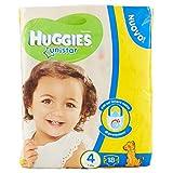 Huggies - Unistar - Pañales - Talla 4 (7-14 kg) - 18 pañales