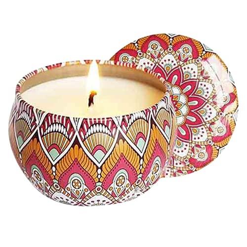 WYGOAKG Velas perfumadas de larga duración todas las velas naturales de la soja que relajan el kit de las velas del alivio