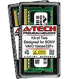 A-Tech 8GB (2 x 4GB) RAM for Sony VAIO VPCEE23FX | DDR3 1600MHz SODIMM PC3-12800 204-Pin Non-ECC Memory Upgrade Kit