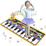 Innedu Alfombrilla para Musical, Alfombra Piano de 19 Teclas, Juguete de música Educativo portátil con 8 Instrumentos, 10 demostraciones y función de grabación para niños (110 * 36 cm)