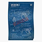 LAKO Blueprints Weapon Cod Call Blueprint Zombies Duty of Weapons - The Most Impressive and Stylish Indoor Decoration Poster Available Trending Now