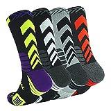 4Pack Men's Basketball Sock...