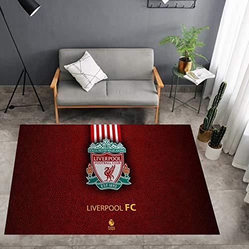 JesUsAvila Moderno Minimalista Alfombra Creativo Personalidad Liverpool-Football f.c. Baloncesto Ventilador Tribunal Cuarto Viviendo Habitación Arte Decoración Antideslizante Alfombra Instalaci