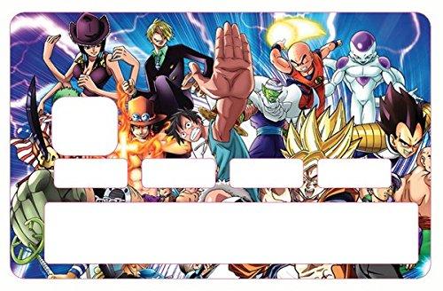 Stickers, autocollant pour carte bancaire - Manga Family - Différenciez et décorez votre carte bancaire suivant vos envies!! Facile à poser, sans bulles