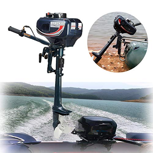 SOFEDY Boat Motors Outboard 3.5hp 2-Stroke Boat Engine Heavy Duty Outboard Motor Inflatable Fishing Boat Motor with Water Cooling System