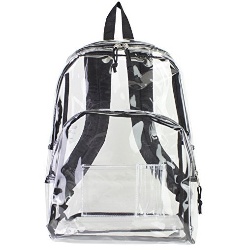 Eastsport Clear Backpack, Black Trim by Eastsport