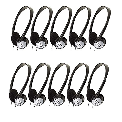 Panasonic RP-HT21 Lightweight Headphones with XBS (10 Pack)