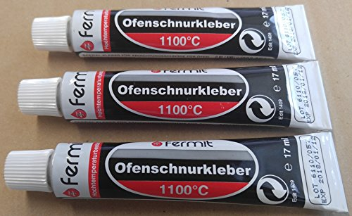 Afdichtlijnlijm ovenschnoerlijm hoge temperatuur lijm afdichting 1100 °C Fermit 1 tot 5 tubes 17 ml (3 tubes 17 ml)