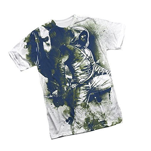 Spray Paint - CW's Arrow TV Show Front Print Sports Fabric T-Shirt, XX-Large White