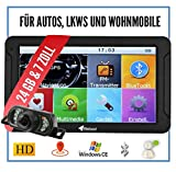 Elebest City 70K Navigationsgerät PKW, LKW, Wohmobil - Funk Rückfahrkamera, Großes 7 Zoll (17,8 cm) Touchscreen HD Display - 24 GB, Fahrspurassistent, Bluetooth - Radarwarner, EU Karte, Inkl Halterung