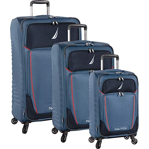 Nautica 3 Piece Expandable Spinner Set, Blue stern