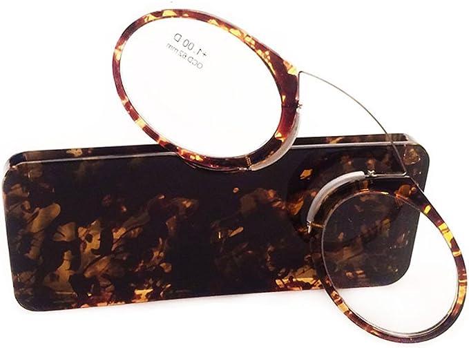 Meijunter Hommes et femmes Lunettes Lunettes de lecture Pince Nez Style Mini Nose Lunettes de lecture portefeuille portable avec /étui 1.0 1.5 2.0 2.5 3.0 3.5
