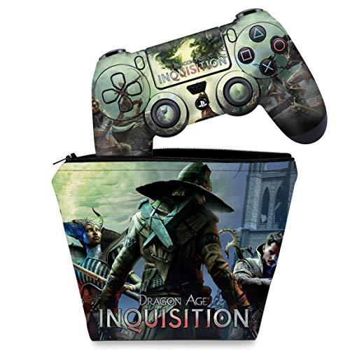 Capa Case e Skin Adesivo PS4 Controle - Dragon Age Inquisition