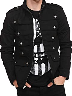 Mens Steampunk Victorian Gothic Military Parade Drummer Jacket Vintage Costume Coats with Pockets