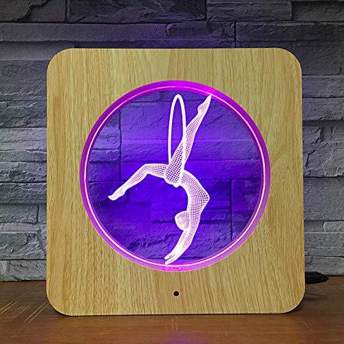 Yoga Ontwerp 3D fotolijst LED Nacht Licht DIY Persoonlijkheid Lamp Stand Kind Verjaardag Kleur Gift Home Decoratie Druppel Levering