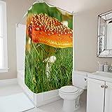 Gamoii - Cortina de ducha para baño (200 x 200 cm), diseño de seta