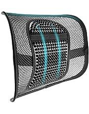 m zimoon Mesh ryggstöd, mesh korsrygg stöd kudde luftflöde stol ryggstöd med elastisk rem ryggstöd för hem kontor stol bilsäte rygg smärtlindring