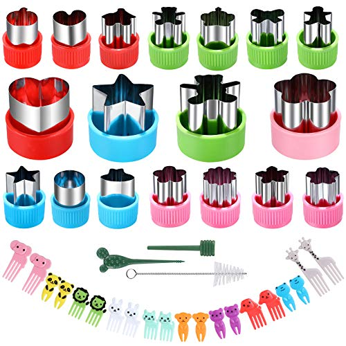 Vegetable Cutter Shapes Set - Mini Sizes Cookie Cutters Set,for Kids Baking and Food Supplement Tools Accessories Crafts for Kitchen