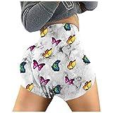 LEEDY - Pantalones cortos para mujer, diseño de mariposa, para entrenamiento, para verano, talle alto, para yoga, correr, etc. Gris gris L