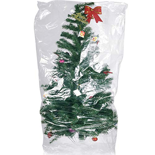 TUPARKA Large Furniture Cover 9ft Christmas Tree Poly Storage Bag 110' x 72' with Small Moving Bags, 2 Set