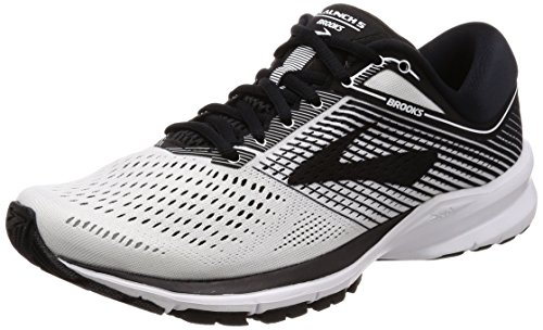 Brooks Men's Launch 5 White/Black/White 10.5 D US