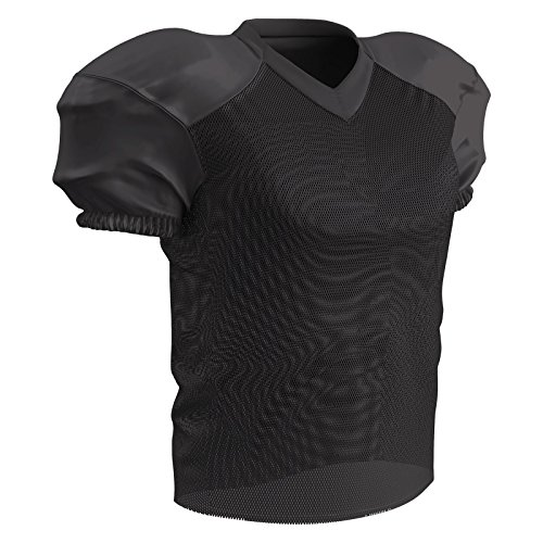 Champro Time Out Fußballtrikot aus Polyester, Herren, Time Out Football Practice Jersey, schwarz, X-Large