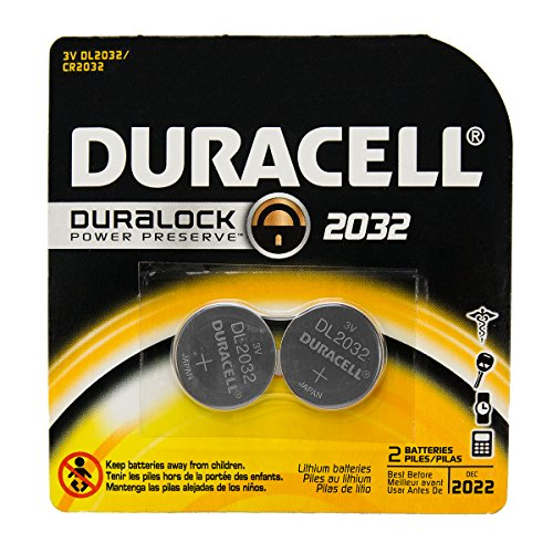 Price comparison product image 12 Duracell DL2032 Duralock Lithium Batteries Cell Button Electronics (2x6)
