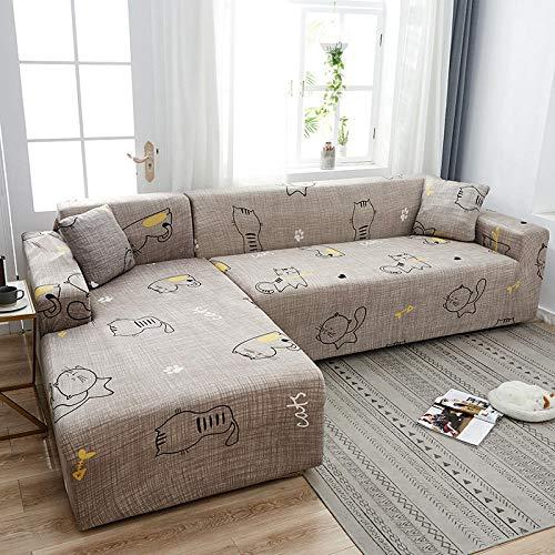 YMYGYR Asiento Forro de Sofá Doméstico 3 plazas, Funda de sofá elástica de Esquina de Spandex, Funda de sofá, Funda Universal para Sala de Estar R 75-91 Inch
