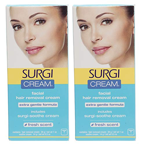 Surgi Facial Hair Removal Cream, Extra Gentle 1 oz x 2 pack